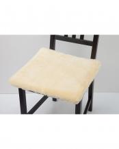 イエロー <br />洗える羊毛シートクッション 43×43