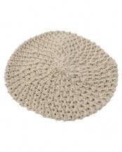 ベージュ  ニットベレー帽
