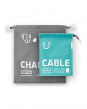 グレー/ブルー  充電器+ケーブル H.Fインラゲージポーチ
