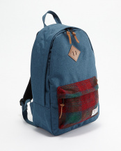 ブルー×レッド  Harris Tweed backpack