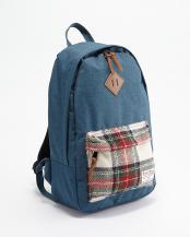 ブルー×ホワイト  Harris Tweed backpack