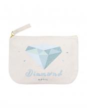 Diamond/April  バースストーンポーチ