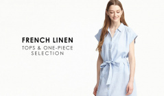 FRENCH LINEN TOPS & ONE-PIECE SELECTIONのセールをチェック