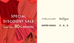 SPECIAL DISCOUNT SALE MORE THAN 80% BRANDSのセールをチェック