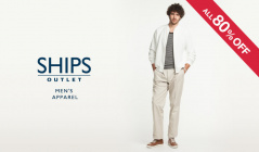 SHIPS OUTLET MEN'S APPAREL ALL80%OFFのセールをチェック