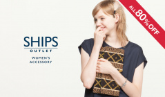 SHIPS OUTLET WOMEN'S ACCESSORY ALL80%OFFのセールをチェック