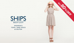 SHIPS OUTLET WOMEN'S TOPS & ONE-PIECE & OUTER ALL80%OFFのセールをチェック