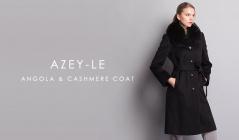 AZEY-LE   ANGOLA & CASHMERE COATのセールをチェック