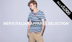 MEN'S ITALIAN APAREL ALL ¥5,000(モードフルーレ)のセールをチェック