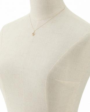 K10YG スウィングダイヤ ダブルひし形ネックレス見る