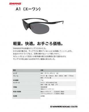 ブラック(偏光レンズ)  A1サングラス見る