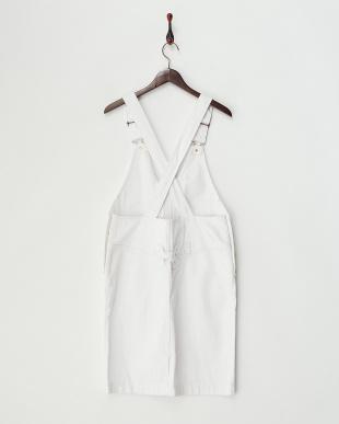 オフホワイト ライトオンスデニムジャンパースカート見る