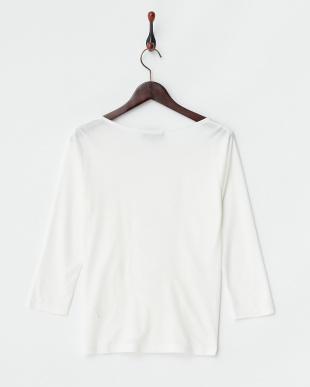 ホワイト シャーリング7分袖プルオーバー(大きいサイズ)見る