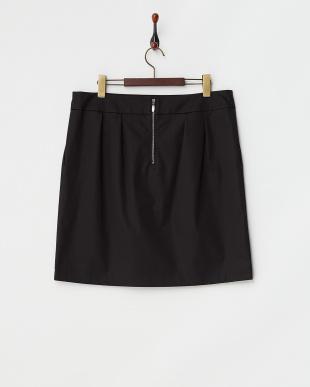ブラックサテンストレッチスカート L見る