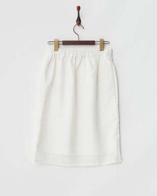 オフホワイト  ラッセルレースタイトスカート見る