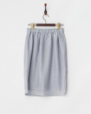 ライトグレー  ラッセルレースタイトスカート見る