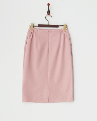 ピンク  リップルムジタイトスカート見る