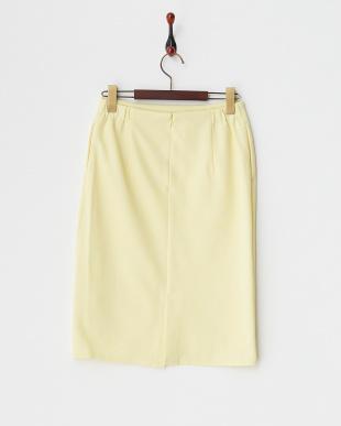 イエロー  リップルムジタイトスカート見る