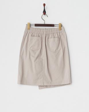 グレー ラップ風ジップタイトスカート見る