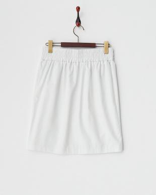 オフホワイト ウエストスピンドルAラインスカート見る
