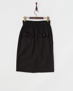 ブラック  バックリボンタイトスカート見る