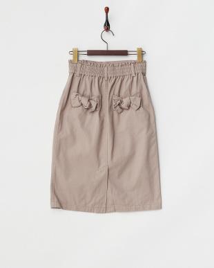 グレーベージュ  バックリボンタイトスカート見る