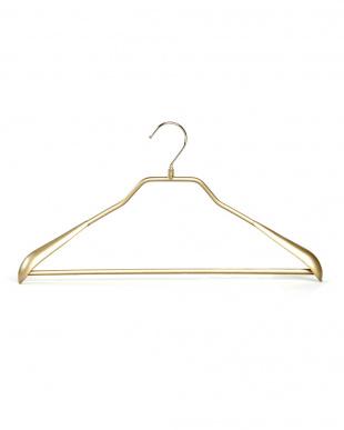 ゴールド  厚3cm バー付滑りにくいハンガー5本 | MAWA見る
