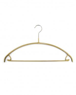 ゴールド  バー付滑りにくいハンガー10本 | MAWA見る