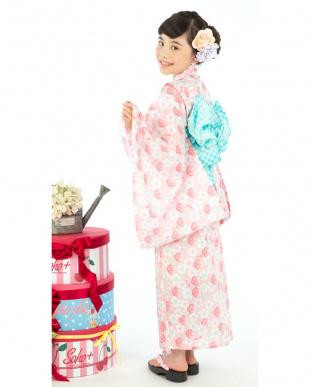 ピンク系 Sahoコラボ 桜 浴衣+兵児帯|KIDS見る