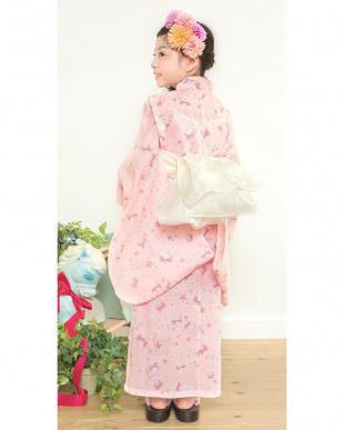 ピンク系  Sahoコラボ 貝殻×リボン 浴衣+兵児帯見る
