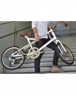ホワイト  ミニベロ自転車見る