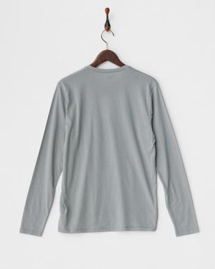 グレー アラビキ杢長袖Tシャツ見る
