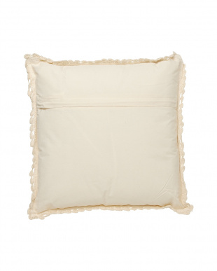 BEIGE MID COTTON L CUSHION W/SMALL FLOWERS見る