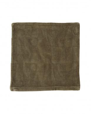ブルー  ジオメトリックⅠ クッションカバー(45×45cm)見る