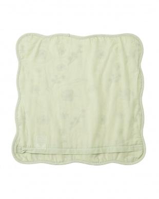 グリーン  キルト クッションカバー(45×45cm)見る