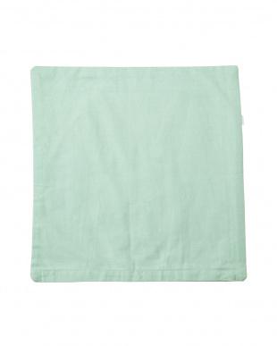 グリーン  ツリーシルエット クッションカバー(45×45cm)見る