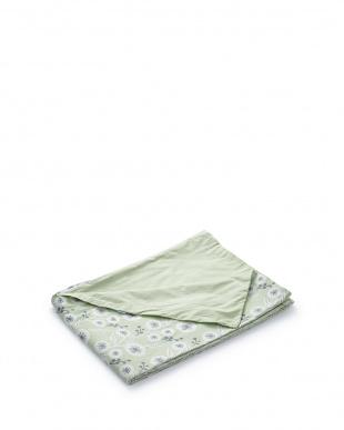 グリーン  掛布団カバーS フラワー(150×210cm)見る
