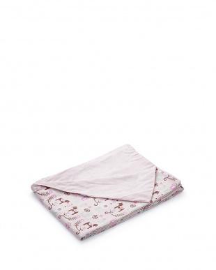 ピンク  掛布団カバーD ダーラナホース(190×210cm)見る