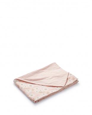 ピンク  敷布団カバーS フラワー(105×215cm)見る