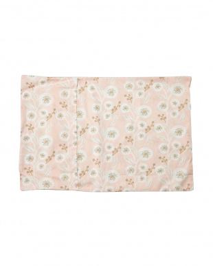 ピンク  ピローケース フラワー(43×63cm枕対応)見る
