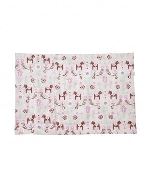 ピンク  ピローケース ダーラナホース(43×63cm枕対応)見る