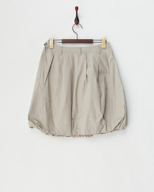 ライトグレー コットンタックバルーンスカート見る