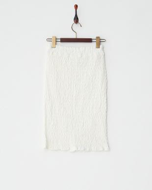 オフホワイト シャーリングスカート見る