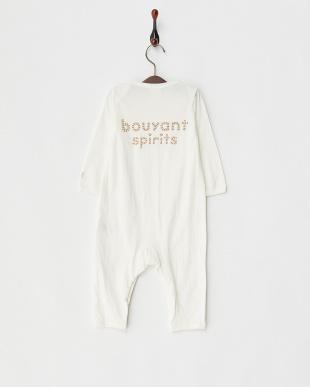 オフホワイト ワンポイントプリントロンパース|Baby見る