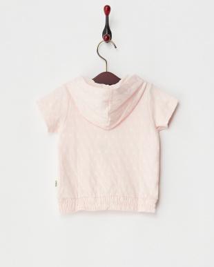 ピンク×オフホワイト スター接結パーカ|Baby見る