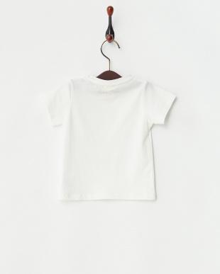 オフホワイト  エンブレムロゴTシャツ|Baby見る
