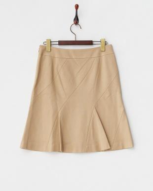 ベージュ  ターシャポンチ バイアス切り替えスカート見る