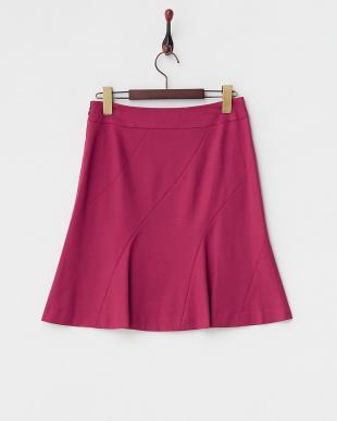 ピンク  ターシャポンチ バイアス切り替えスカート見る