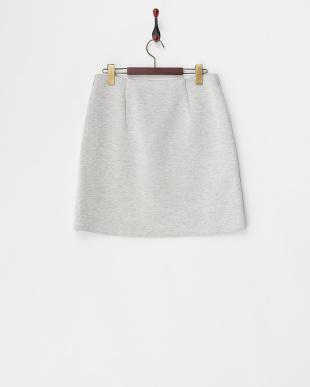 グレー  リヨセルボンディングバラプリント台形スカート見る