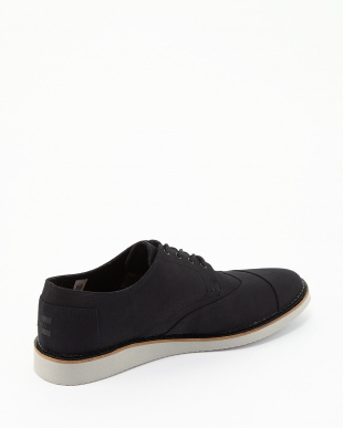 Black Cotton Twill BROGUE Lace Ups見る